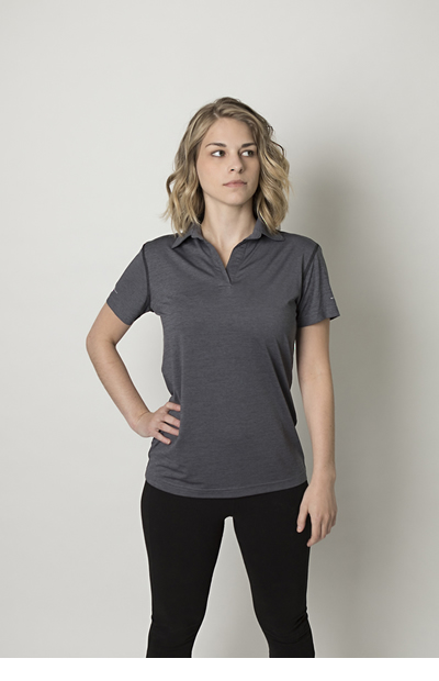BKP700L Ladies Heather Polo