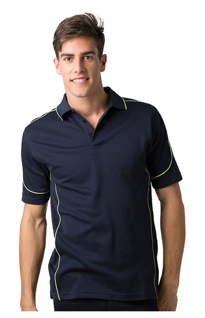 BSP09 Polyester Cooldry Baby Waffle Knit Polo - Men's