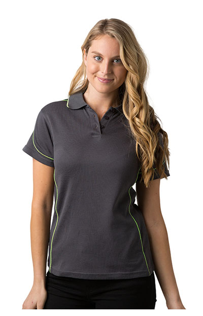 BSP09L Polyester Cooldry Baby Waffle Knit Polo - Ladies