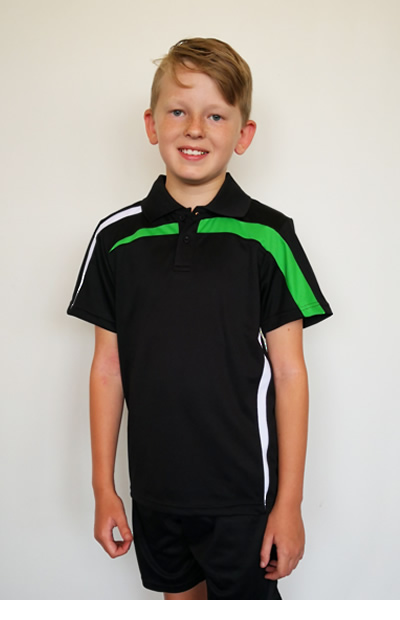 BSP2014K Kids Micromesh Polo Shirt