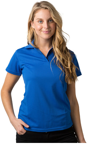 THE PIRANHA Polyester Cooldry Pique Knit Polo [165GSM] - Ladies